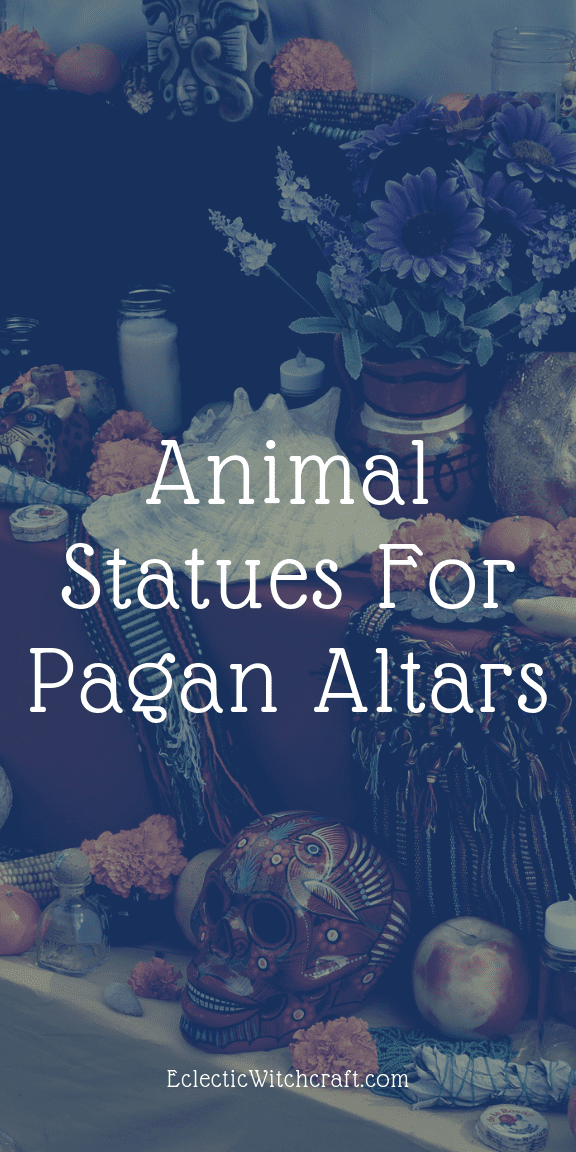 Three Animal Statues For Your Altar (Pagan Altars For Beginners) Learn how to make a pagan altar with these tips! Plus cat, frog, and elephant statues for your altar. What is a pagan atlar? What goes on a pagan altar? What direction should a pagan altar face? Pagan altar inspiration for familiars, totem animals, and spirit animals. Set up your pagan altar with these cool aesthetic ideas! Make a simple pagan altar indoors or outdoors. DIY witch altars. #witch #witchcraft #pagan #wicca #cats