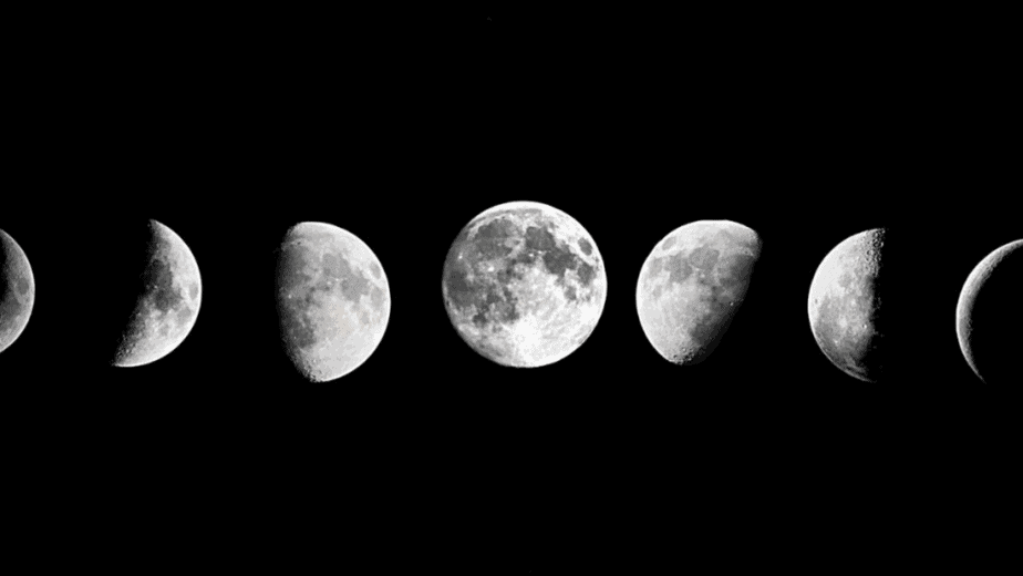Decorative image of the phases of the moon