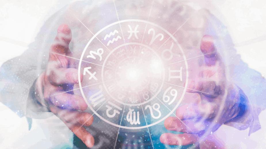 Decorative image of astrological symbolism