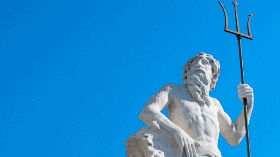 Decorative image of a statue of zeus