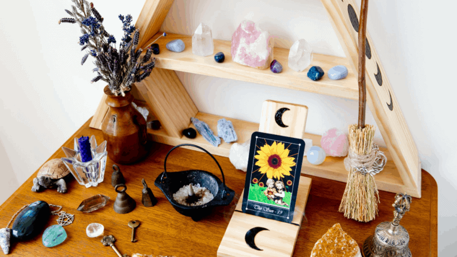 Decorative image of a witch's altar