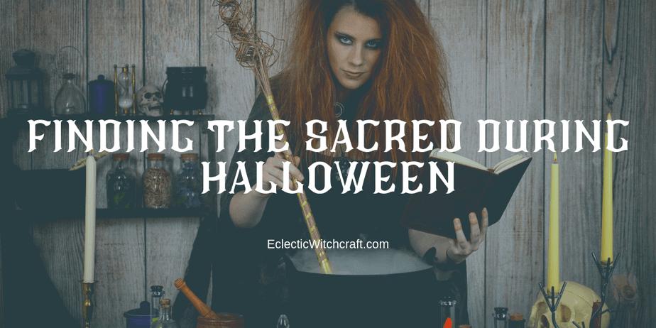 A witch stirring a cauldron