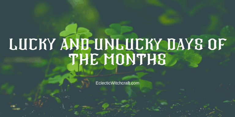 Lucky And Unlucky Days Of The Months