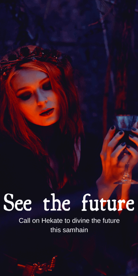 Decorative Image | Call on Hekate To See The Future This Samhain | See the future with the help of the witch's goddess, Hekate.