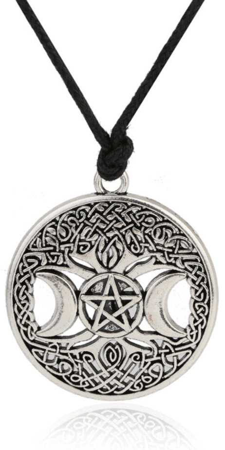 Large Triple Moon And Celtic Tree Wiccan Pendant Necklace. Pagan symbolism and jewelry. Unique talismans and witchcraft. Create amulets from symbolic pagan jewelry. Wiccan triple moon symbol. Tree of life symbolism. Yggdrasil necklace. Pentacle and pentagram symbolism. Pagan protection. Celtic witchcraft. Celtic paganism. Pagan symbolism. Wiccan symbols. #celtic #celticpagan #pagan #paganism #wicca #wiccan #witchcraft #witch #symbolism #jewelry #paganjewelry