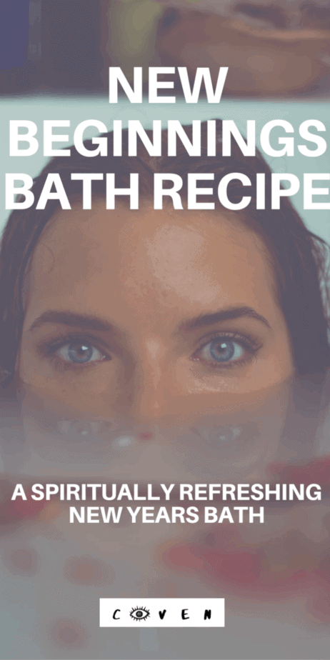 New beginnings bath recipe for fresh starts after the new year. Start 2020 with a spiritual refresh bath. New year pagan rituals. Wiccan spells. Herbalist magic. Magical correspondences of herbs. Green witch. Green witchcraft. Licorice root herbalism. Pine needles herbalism. Rosemary herbalism. Hawthorn herbalism. New years day traditions. #newyear #newyears #2020 #bath #herbalism #witch #witchcraft