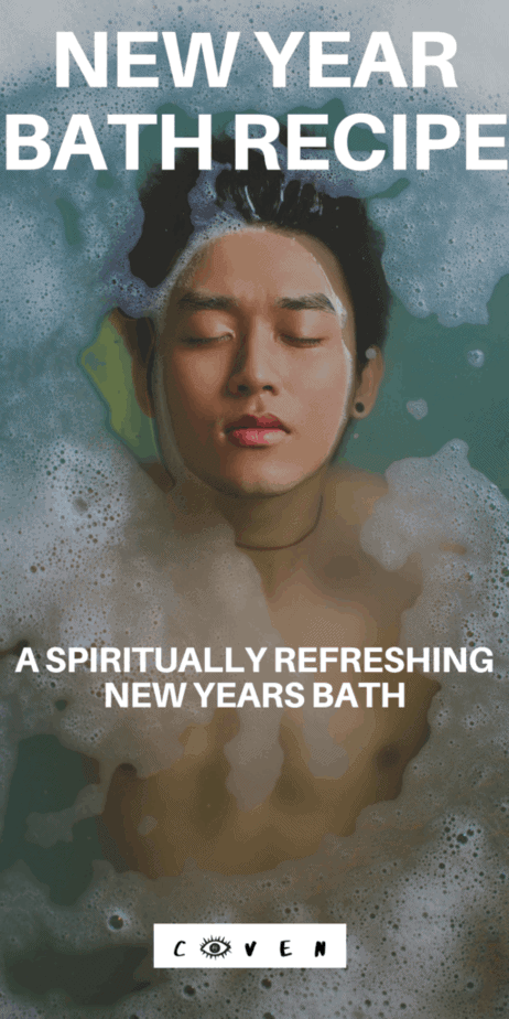 Try this new year's self care ritual. Start 2020 with a spiritual refresh bath. New year pagan rituals. Wiccan spells. Herbalist magic. Magical correspondences of herbs. Green witch. Green witchcraft. Licorice root herbalism. Pine needles herbalism. Rosemary herbalism. Hawthorn herbalism. New years day traditions. #newyear #newyears #2020 #bath #herbalism #witch #witchcraft