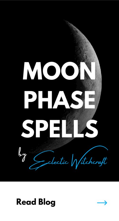 Moon phase spells and how to use the moon phases in your witchcraft. #witch #pagan #wicca #witchcraft