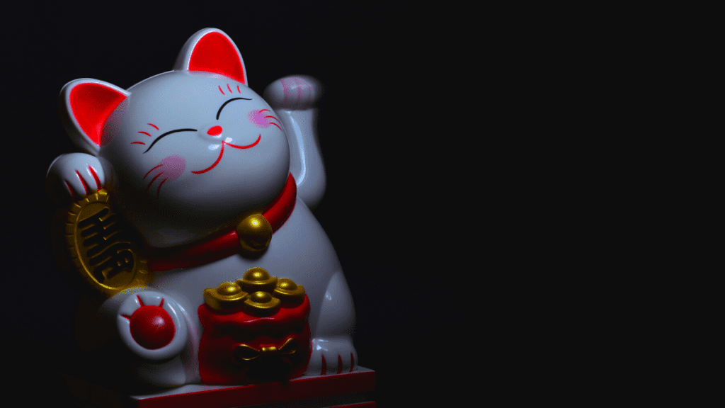 Maneki neko is a cat that can be used as a spell for good luck