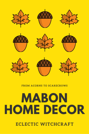 Celebrate Mabon with autumn home decor like apples, scarecrows, and the right healing crystals. #witch #witchcraft #pagan #wicca