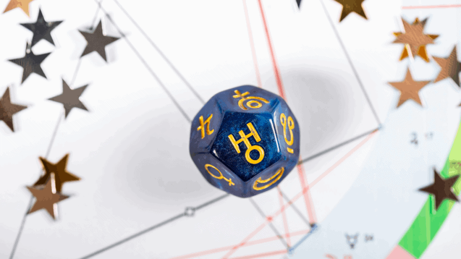 Decorative image of astrology dice: How to use astro dice for divination