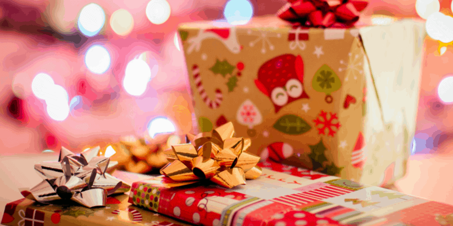 Decorative image of lovingly wrapped presents