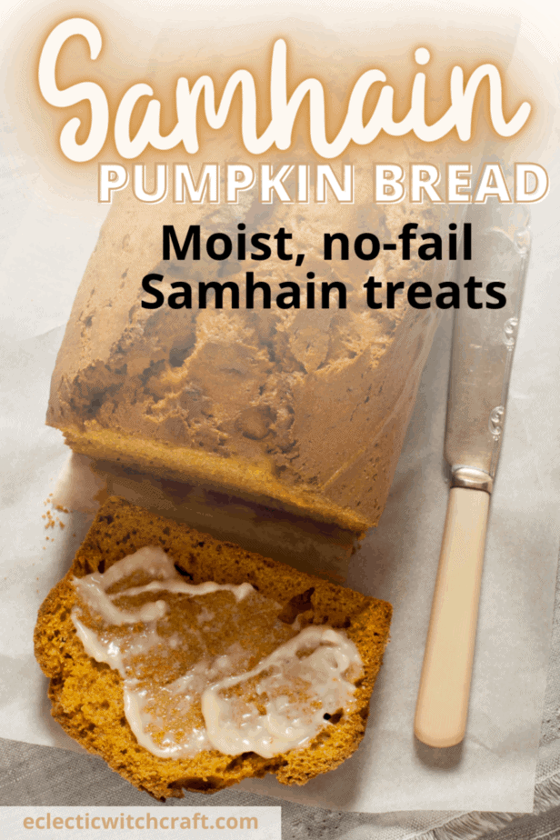 Decorative Image | Samhain Pumpkin Bread Recipe: Decadent Pagan Food | Samhain pumpkin bread is kind of a no-brainer, isn't it?