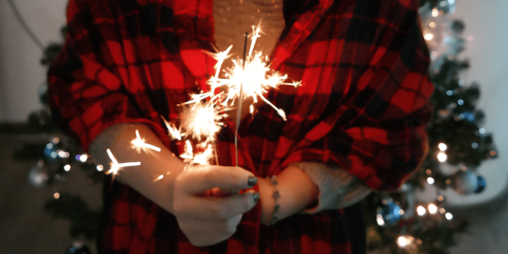 Sparklers aren't exactly an option for an eco-friendly Christmas or Yule party but the image is pretty