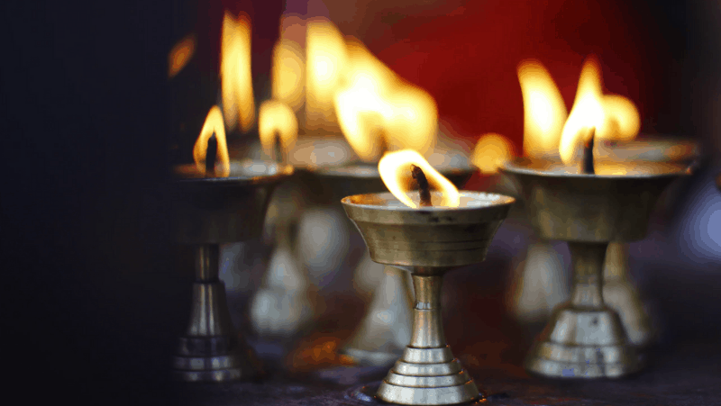 Decorative Image Of silver candles