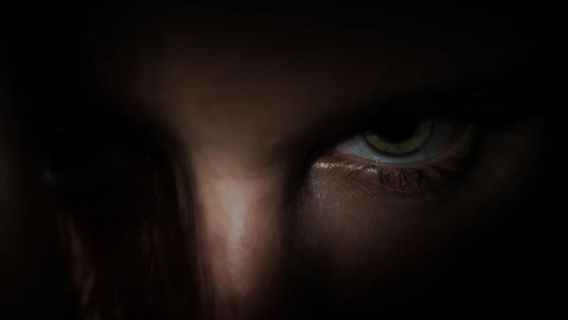 Decorative image of dark, angry eyes