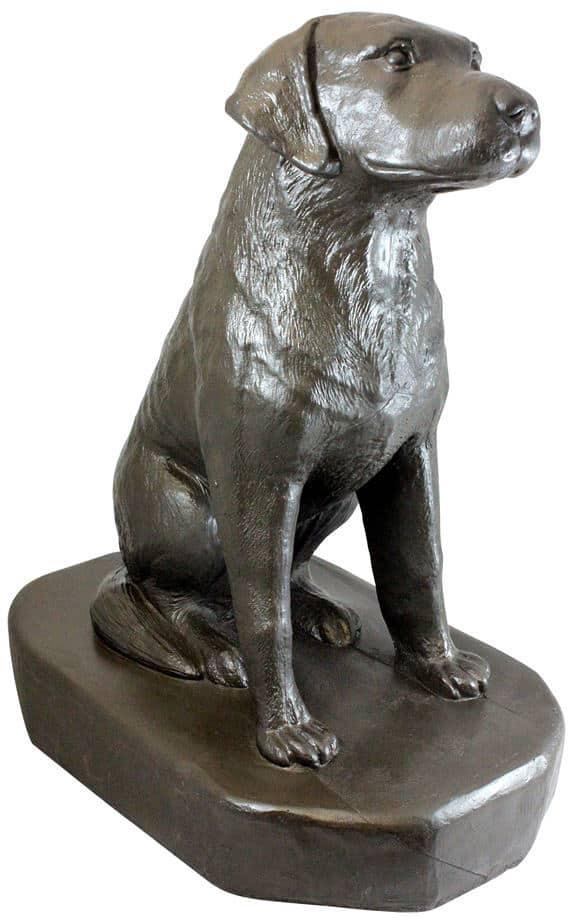 EMSCO Sitting Labrador Dog Statue