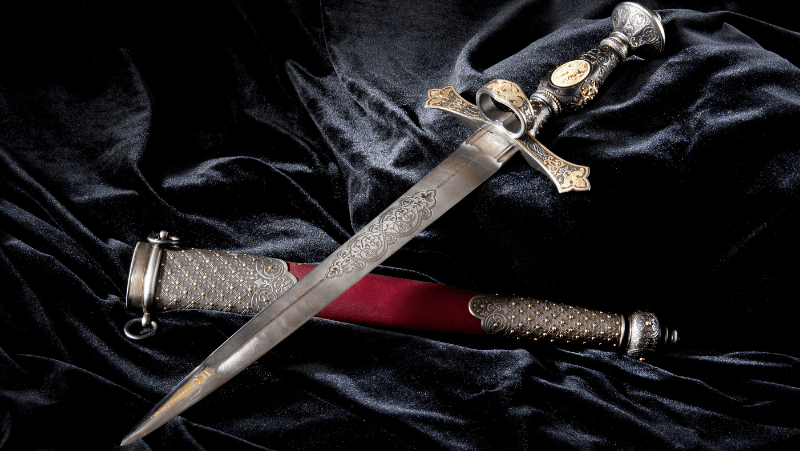 This decorative dagger is both ornate, beautiful, and deadly sharp