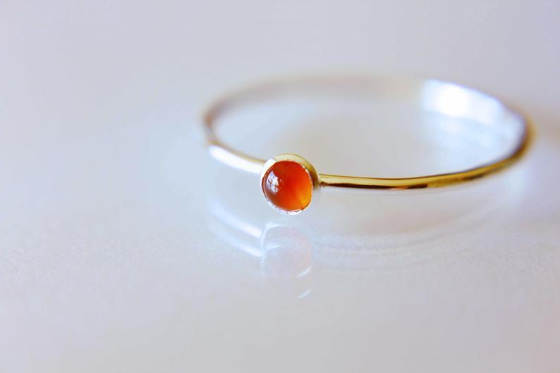 Tiny Carnelian Ring