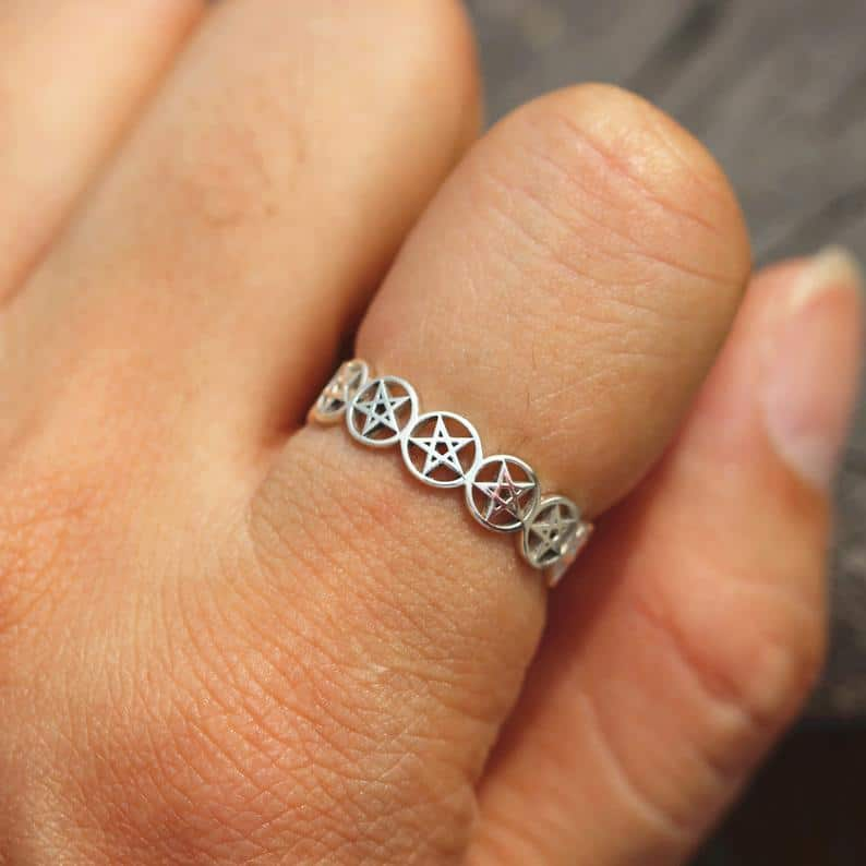 Silver Pentacle Ring