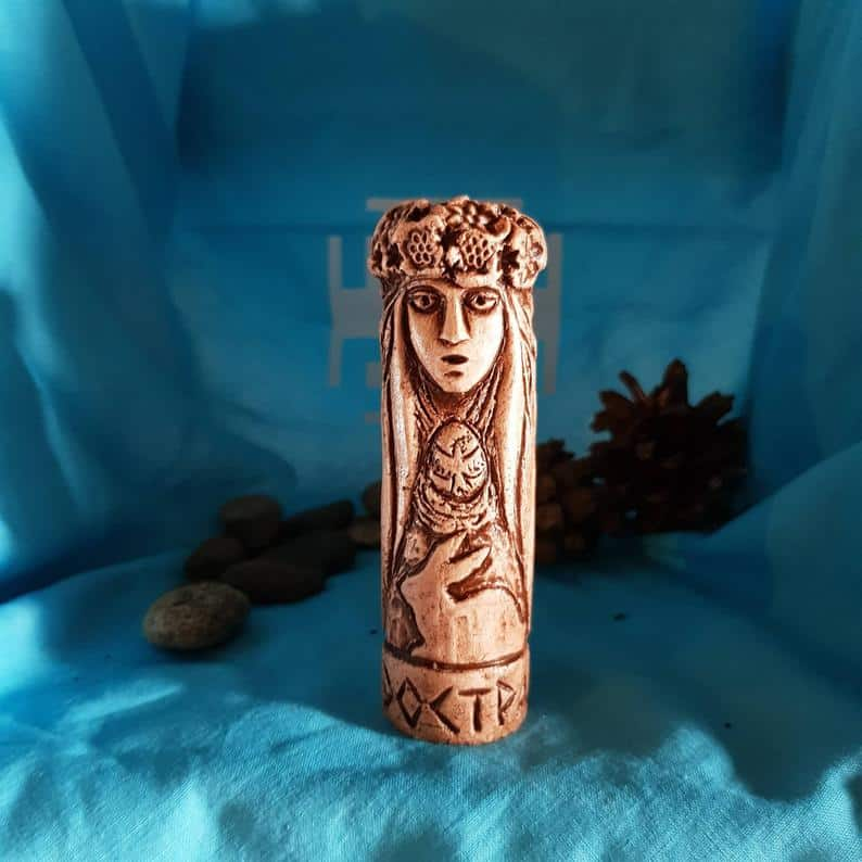 Small Handcrafted Statue of Eostre