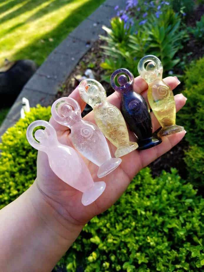 Crystal Goddess Statues