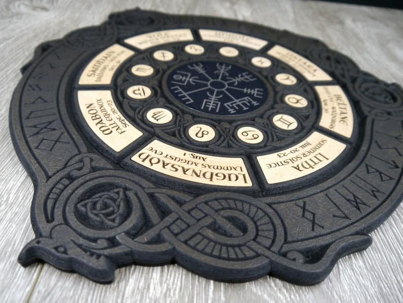 Wheel Of The Year Altar Decor