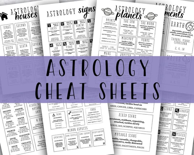 Learn Astrology Cheat Sheet