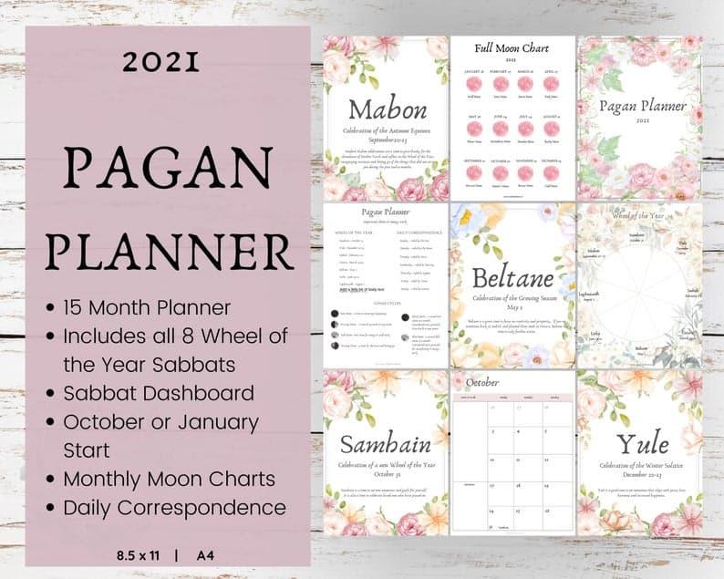 2021 Pagan Planner