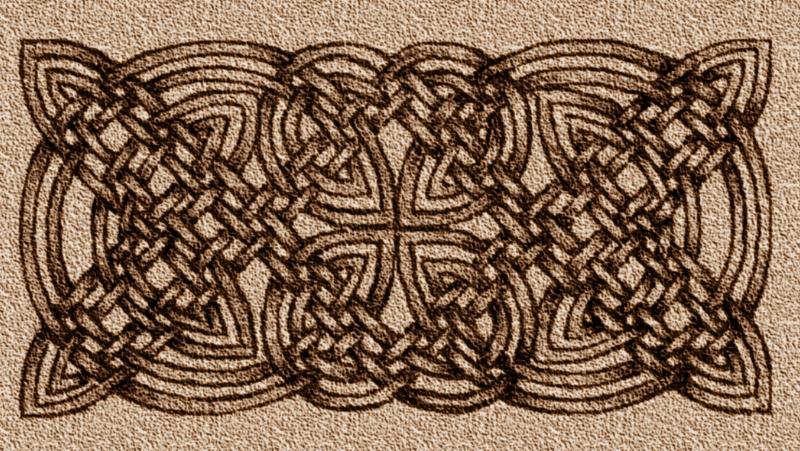 An ornate celtic knot