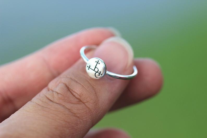 925 Silver Sigil Of Lilith Ring