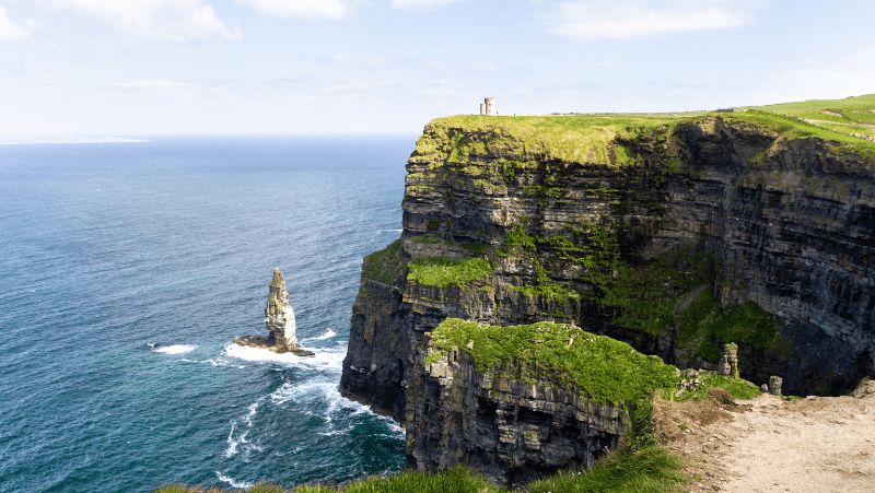 Irish witch names that hail from this gorgeous country. An Irish coastline with a steep cliff.