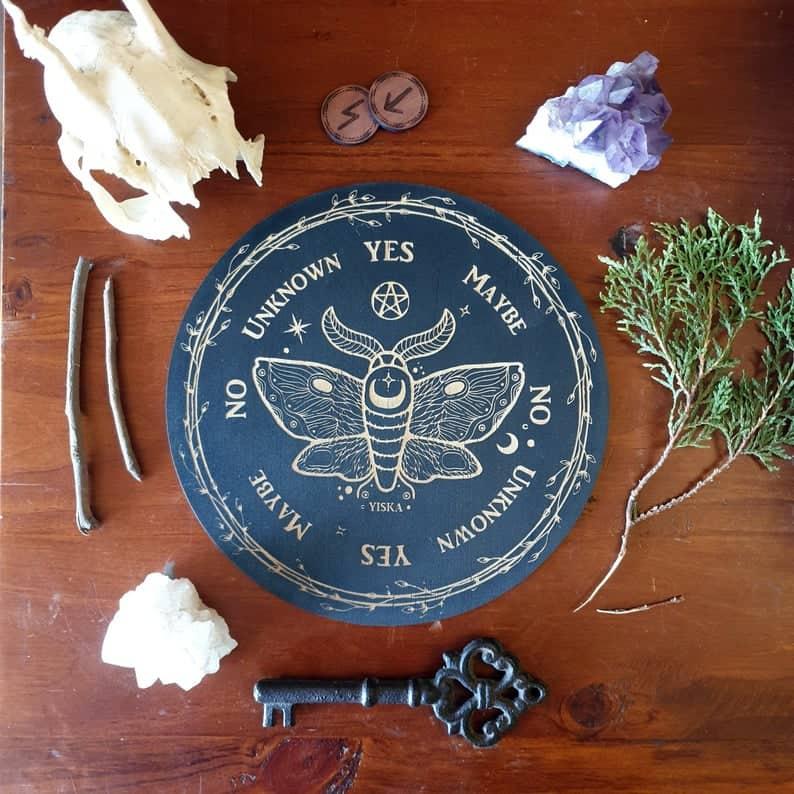 Esoteric Moth Wooden Pendulum Board