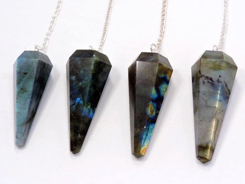 Labradorite Crystal Pendulum