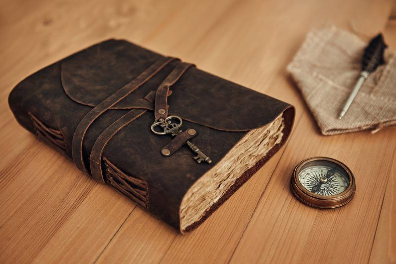 Leather Book Of Shadows Journal
