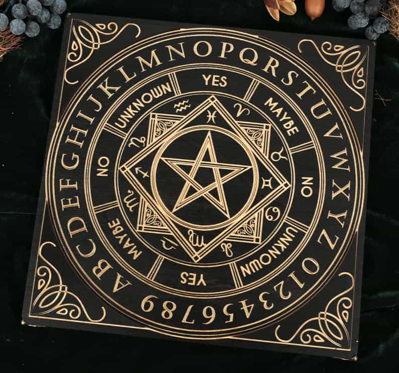 Occult Pendulum Board With Velour Case