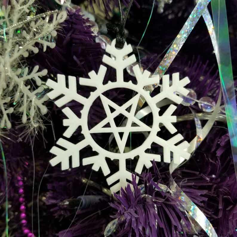 Pentacle Snowflake Ornament