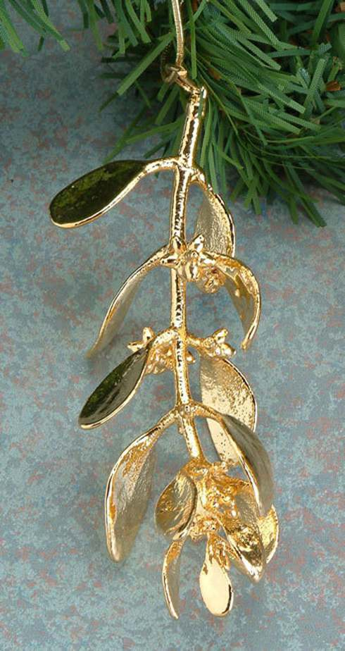 Real Mistletoe Dipped in 24k Gold