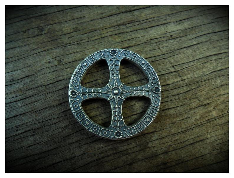 Sun Cross Silver Pendant