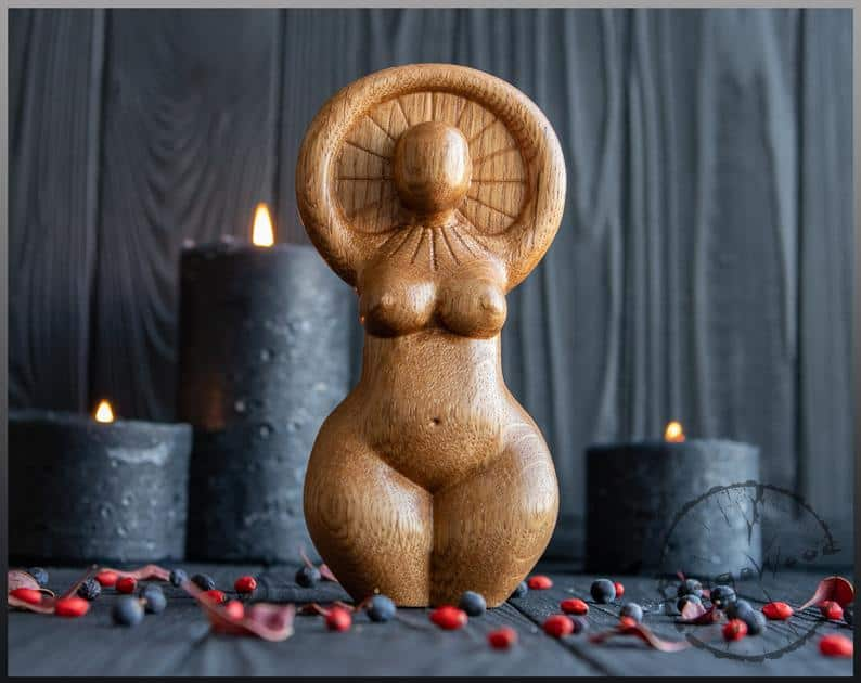 Sun Goddess Statue