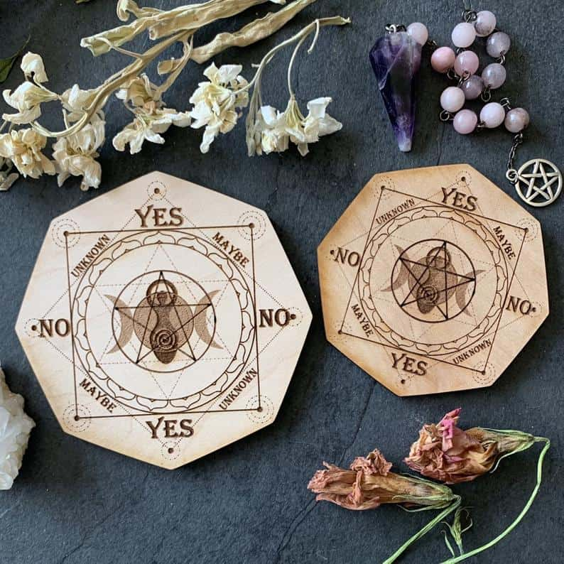 Triple Goddess Pendulum Divination Board