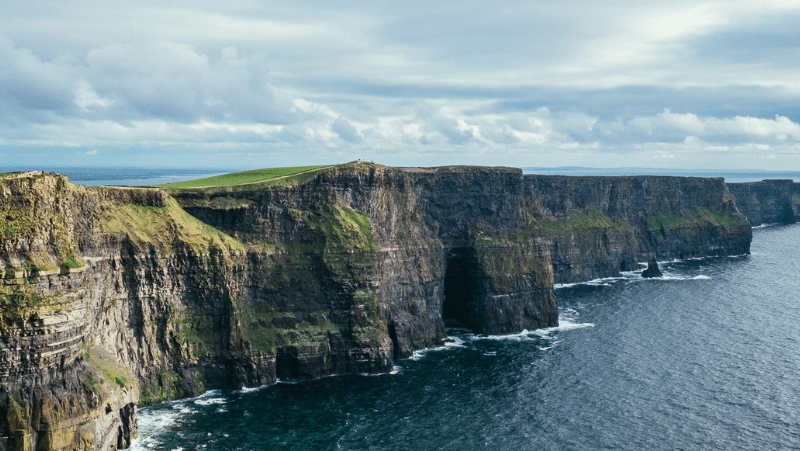 Steep ocean cliffs off of Ireland
