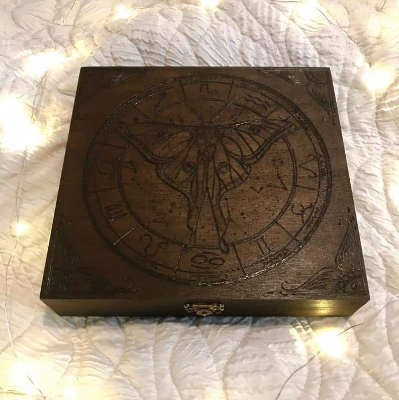 Wood Moth Altar Box