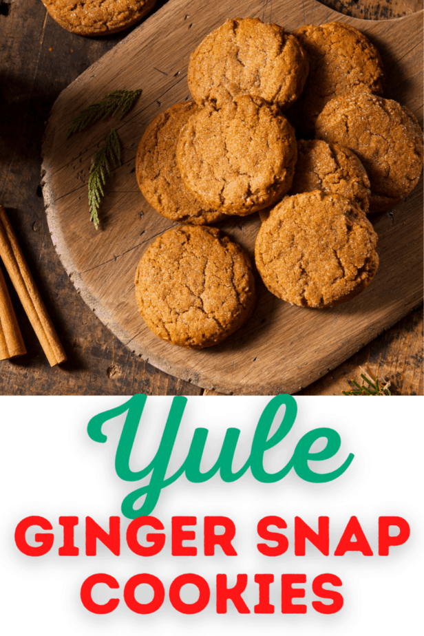 Decorative Image | Perfect Ginger Snap Cookies For Yule | I was really craving these Yule ginger snap cookies this week. Do you ever crave something you haven't had since you were a kid?