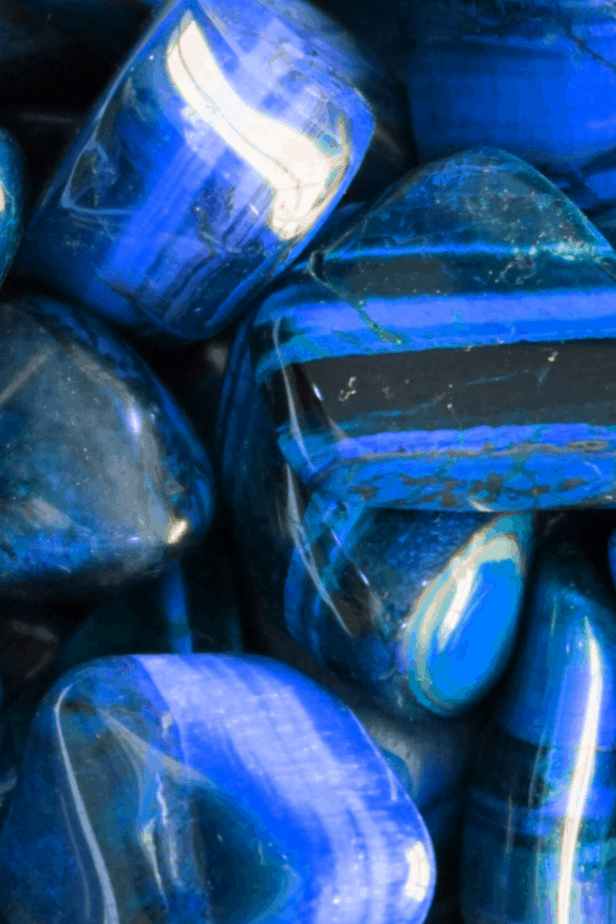 Gorgeous blue tiger's eye crystals