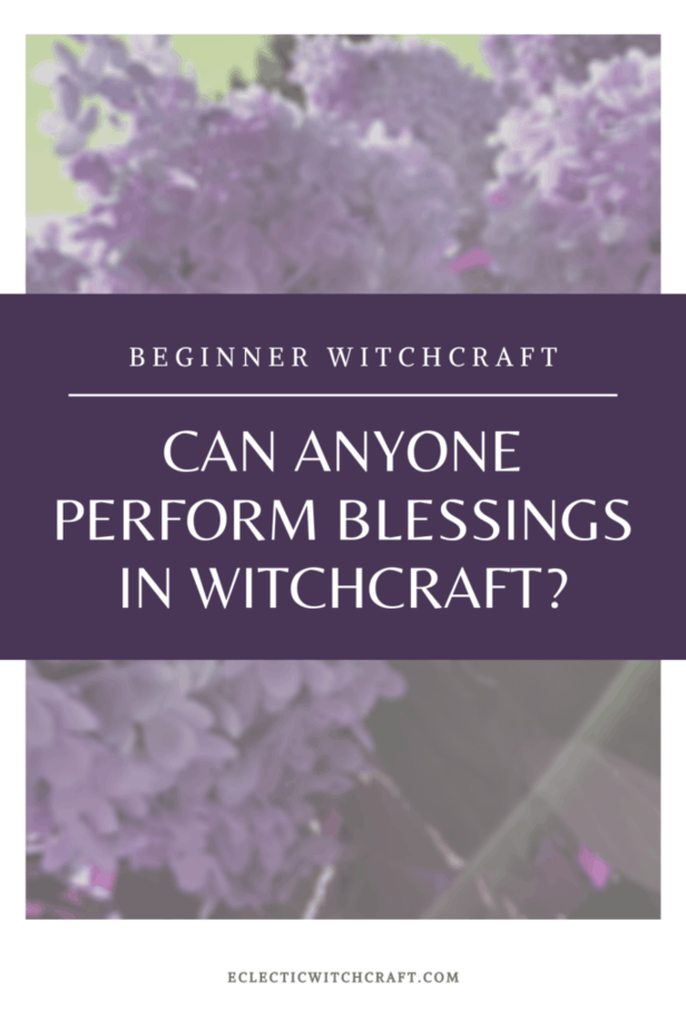 Can anyone perform blessings in witchcraft? Hydrangeas on a green background.