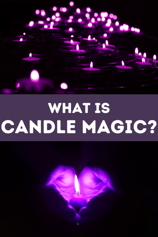 Purple candles and hands. What is candle magic?