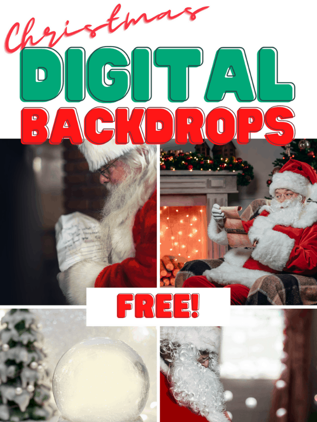 Free Christmas Digital Backdrops