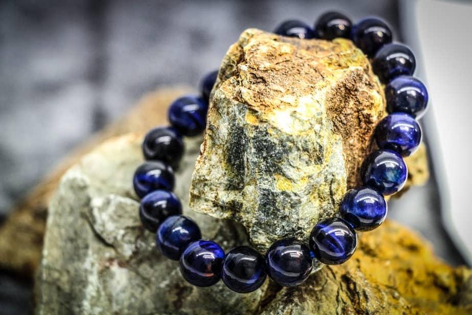 Blue Tiger's Eye Stone Bracelet