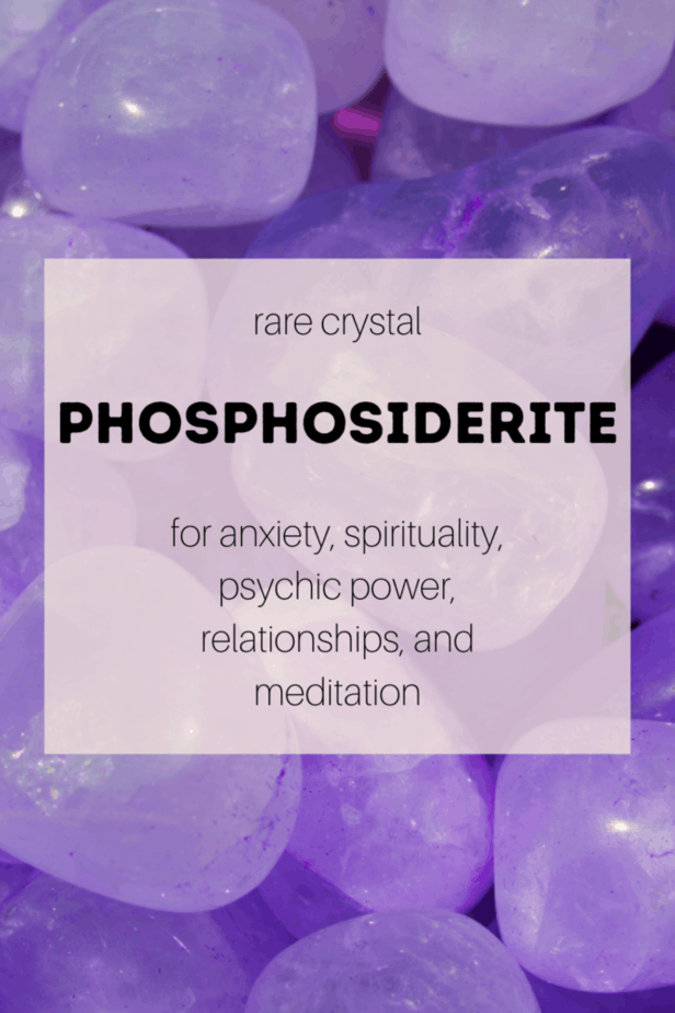 Phosphosiderite for anxiety and other metaphysical correspondences